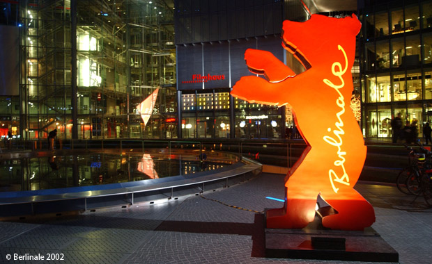 Der Berlinale-Bär im Sony-Center am Postdamer Platz